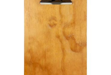 Tabla para cartas de restaurante en madera  con pinza personalizada